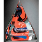 Red & Blue Swirl Pyramid Glass Art Awards