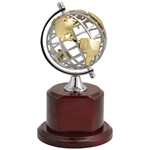 Globe on Rosewood Base Award