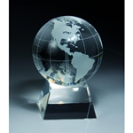 Crystal Globe Desk Awards