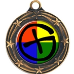 Custom Insert Medals with Star Border