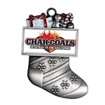 Silver Stocking Custom Holiday Ornament