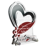 Hearts with Hope Custom Trophy