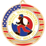 Custom Insert Medals with American Flag Border
