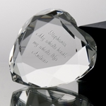 Crystal Heart Paperweight Awards