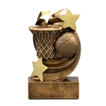 Basketball Star Swirl Trophies