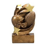 Football Star Swirl Trophies
