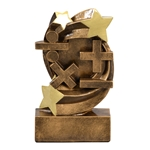 Math Star Swirl Trophies