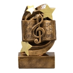 Music Star Swirl Trophies