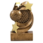 Volleyball Star Swirl Trophies
