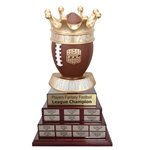 Tiered Fantasy Football Champion Crown Trophy