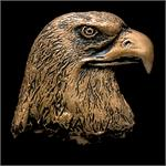 Eagle Head Bronze Accent