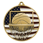 Basketball Patriotic Medals