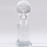 Light Bulb Crystal Trophy