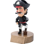 Pirate/Buccaneer Mascot Bobblehead Trophies