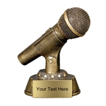 Gold Microphone Resin Trophies