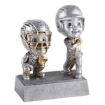 Baseball/Softball Double Bobblehead Trophy