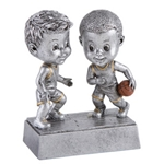 Basketball Male Double Bobblehead Trophy