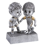 Soccer Male Double Bobblehead Trophy