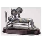 Male Bench Weightlifter Trophy