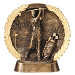 Golf Round Resin Plate Trophies