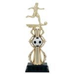 Male Soccer Fully Assembled Trophies