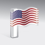 American Flag Acrylic Mask Perch