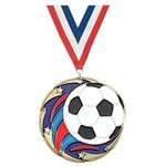Soccer Color Star Medals