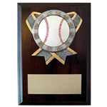 Baseball Ribbon Holder Plaques