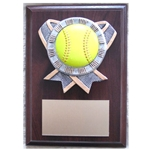Softball Ribbon Holder Plaques