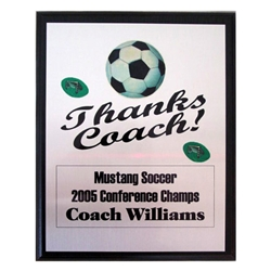 Soccer Thanks Coach Plaques