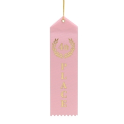 Pink 4th Place Ribbons