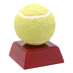Tennis Ball Trophies on Rosewood Colored Base