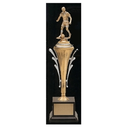 "12"" Female Soccer Gilded Series Victory Cup Trophy"