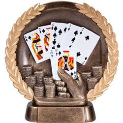 Poker Round Plate Trophies