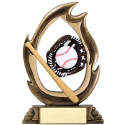 Baseball Flame Trophies