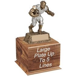 Fantasy Football Monster Trophy on Wood Base