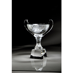 Crystal Trophy Cup with Handles