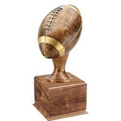 Large Football Trophy on Wood Base