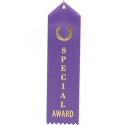 "2x8"" Purple Special Award Ribbons"