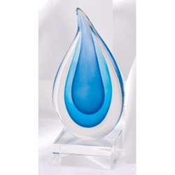 Blue Teardrop Art Glass Awards