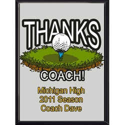 Thanks Coach Golf Plaques