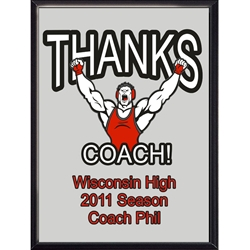 Thanks Coach Wrestling Plaques