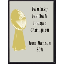 Fantasy Football League Champion Award Plaque