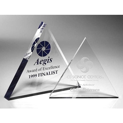 Triangle Paperweight Acrylic Awards