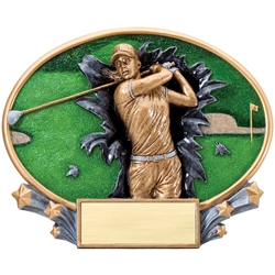 Golf Female XPlosion Oval Trophies