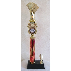 "19.5"" Poker Red Flame Triumph Column Trophies"