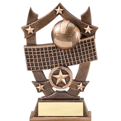 Sports Star Volleyball Resin Trophies