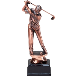 Copper Series Male Golf Swing Trophies