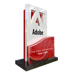 Custom Acrylic Awards Cut Around Your Logo (4 Piece)