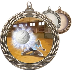 Female Volleyball Insert Medals